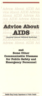 Brochure for public safety and emergency personnel, 1984. [Series 10, Director's city/county division files, Seattle-King County Department of Public Health. 10-11-7.]