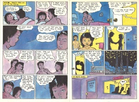 "Pages 10 and 11 of ""AIDS News"" comic book, published by the People of Color Against AIDS Network, 1988. [Series 1825, History files, Seattle-King County Department of Public Health: Prevention Division / HIV-AIDS Program. 1825-3-17.]"