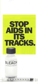 Cover of brochure directed at intravenous drug users, ca. 1987. [Series 1825, History files, Seattle-King County Department of Public Health: Prevention Division / HIV-AIDS Program. 1825-3-17.]