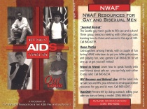 OutLOUD information card from the Northwest AIDS Foundation and the AIDS Prevention Project. [Series 1825, History files, Seattle-King County Department of Public Health: Prevention Division / HIV-AIDS Program. 1825-6-15.]